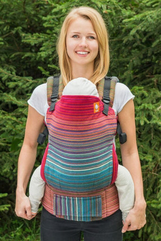 Half Toddler Wrap Conversion Carrier - River Valley Terra Cotta Weft 2