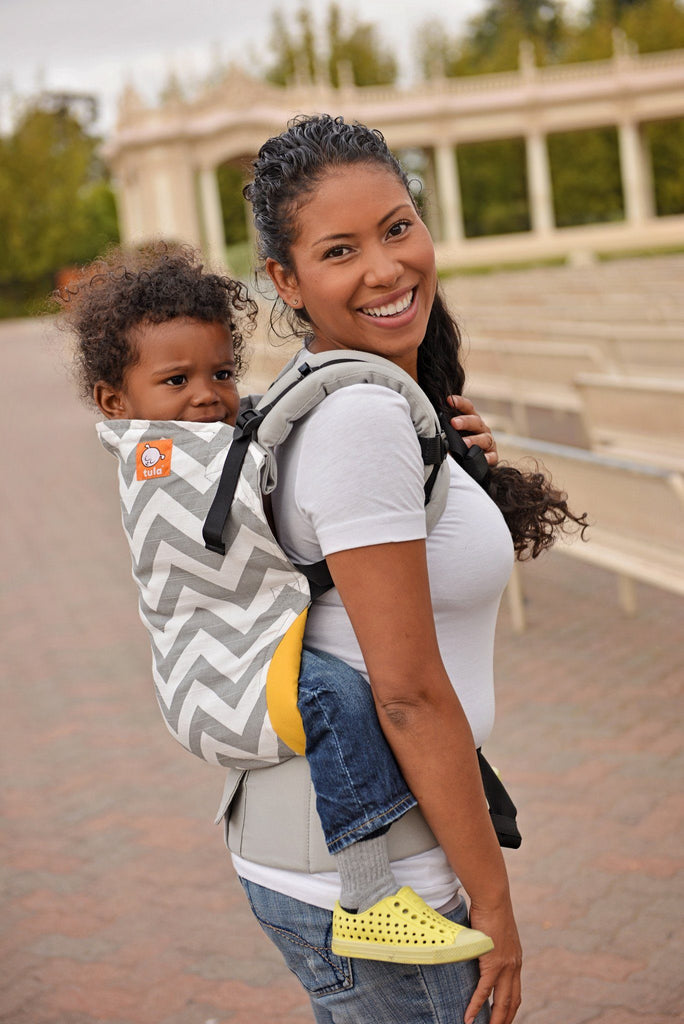 carrier for toddler. gray zig zag - tula toddler carrier baby for a