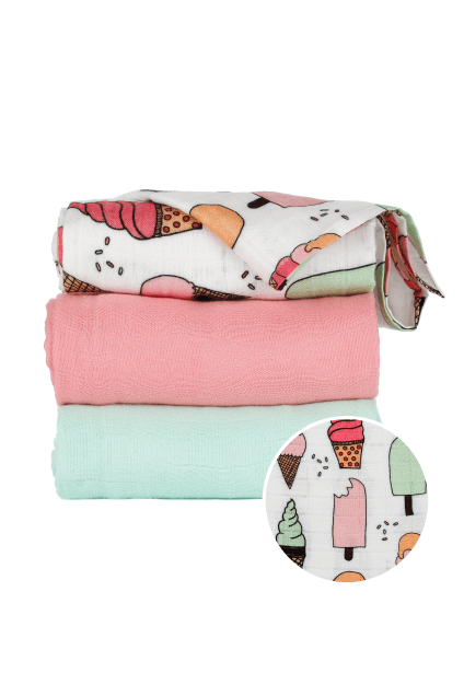 Triple Scoop  - Tula Baby Blanket Set