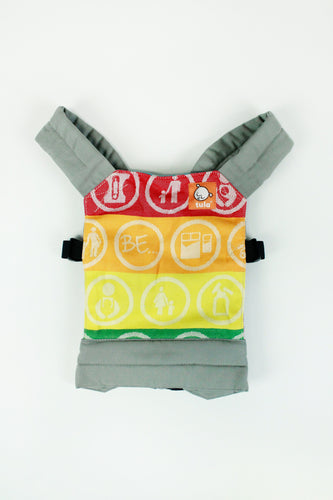 DBG Baby Be Unique - Half Wrap Conversion Tula Mini Doll Carrier