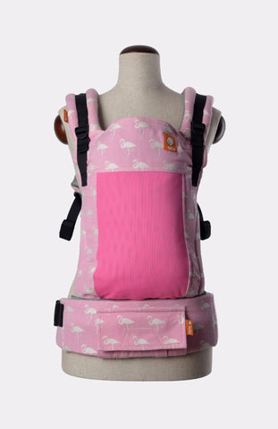 Baby Tula Half Coast Free-to-Grow WC - Keppeke Lamino Baby Pink Wrap Conversion | Baby Tula