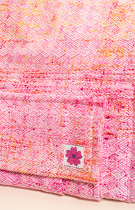Wild Child Pink Lemonade (pink weft) - Tula Signature Baby Carrier Wrap Conversion