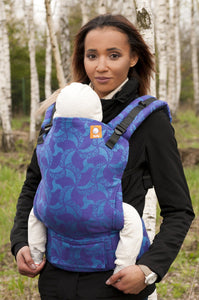 Half Standard WC Carrier - Triskele Blue Violet Wrap Conversion - Baby Tula