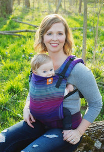 Baby Tula Full Toddler Wrap Conversion Carrier - Girasol Geneva Purpura Romana Weft
