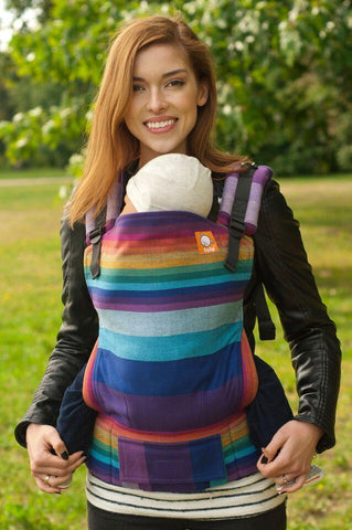 Wrap Conversion Full Standard WC Carrier - Mystic Rainbow Azul Capitan - Baby Tula