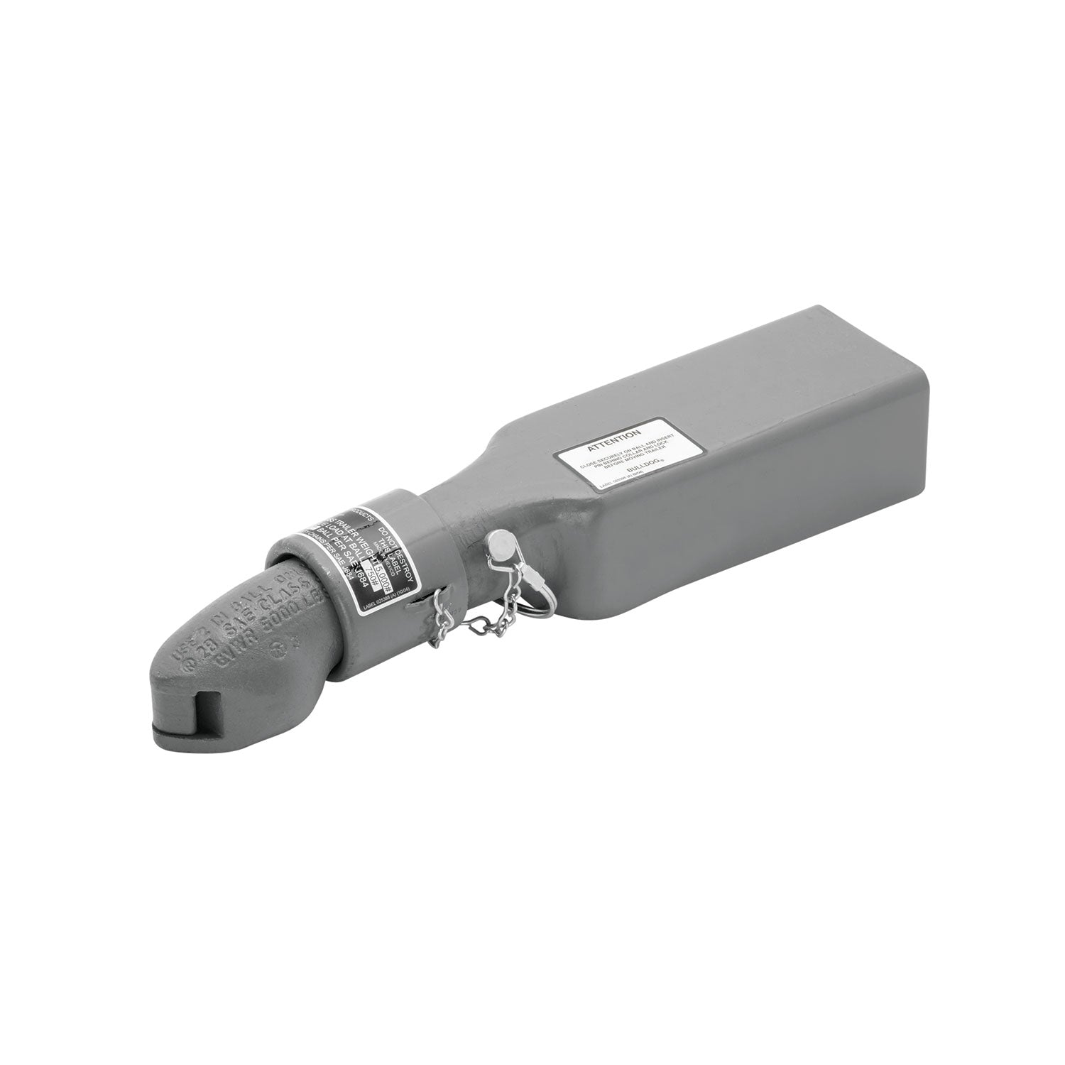 2000-Pound-Primed 11250 0317 1-7//8-Inch Ball 2-1//2-Inch Channel Fulton Straight Coupler Class I