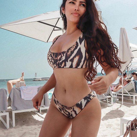 Influencer wearing Iron Angels Bikini