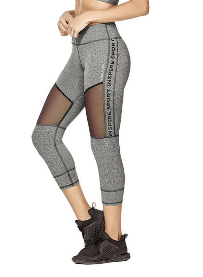 Dashing Capri workout leggings with mesh design