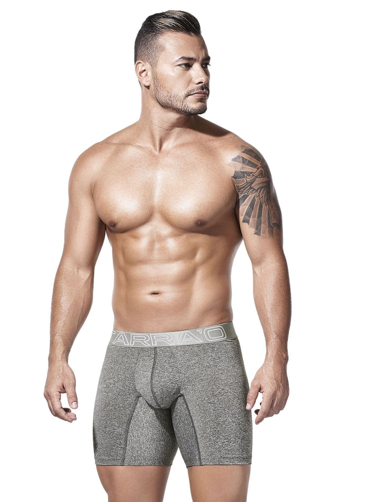 HOT Colombian men's underwear, grey long microfiber boxer briefs