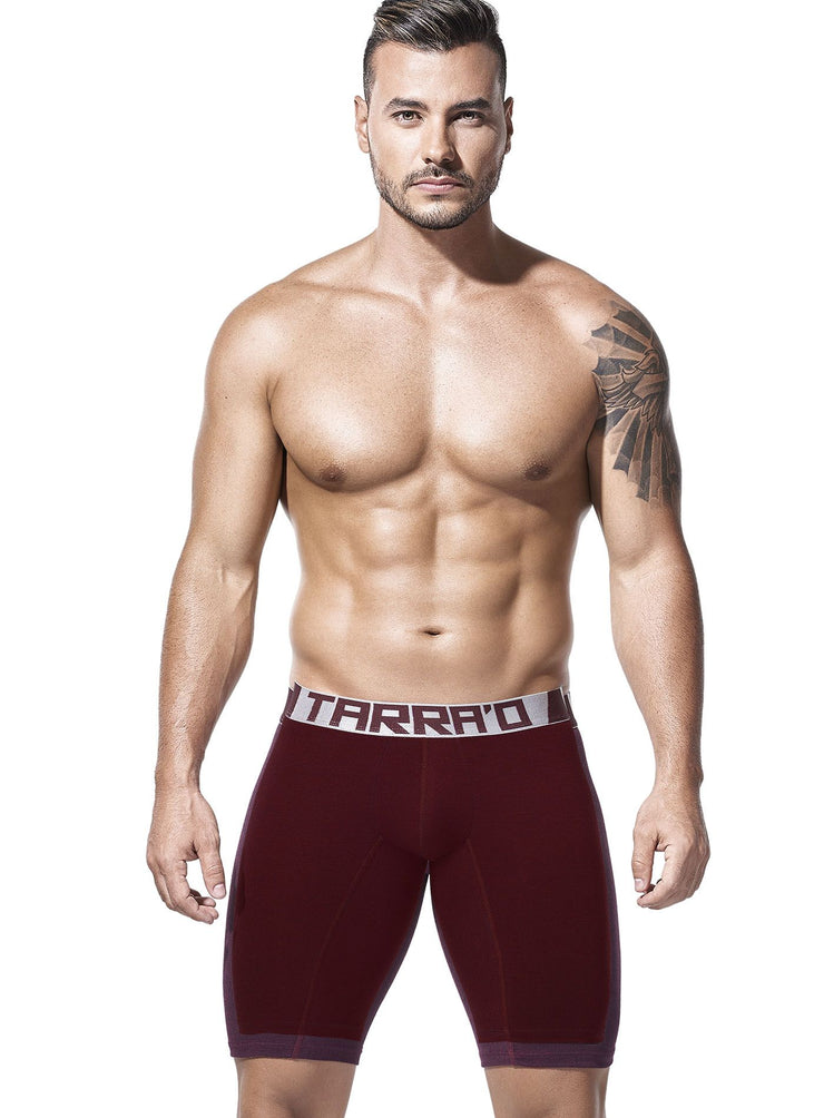 Red win boxer briefs, grey waist band with Tarrao logo, by Tarrao sold by ironangelsfashion.com | Calzoncillos boxer color vino tinto, cinturilla gris con el logotipo de Tarrao