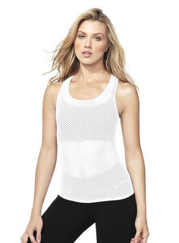 Babalu fashion breathable mesh tank top, racerback, medium length