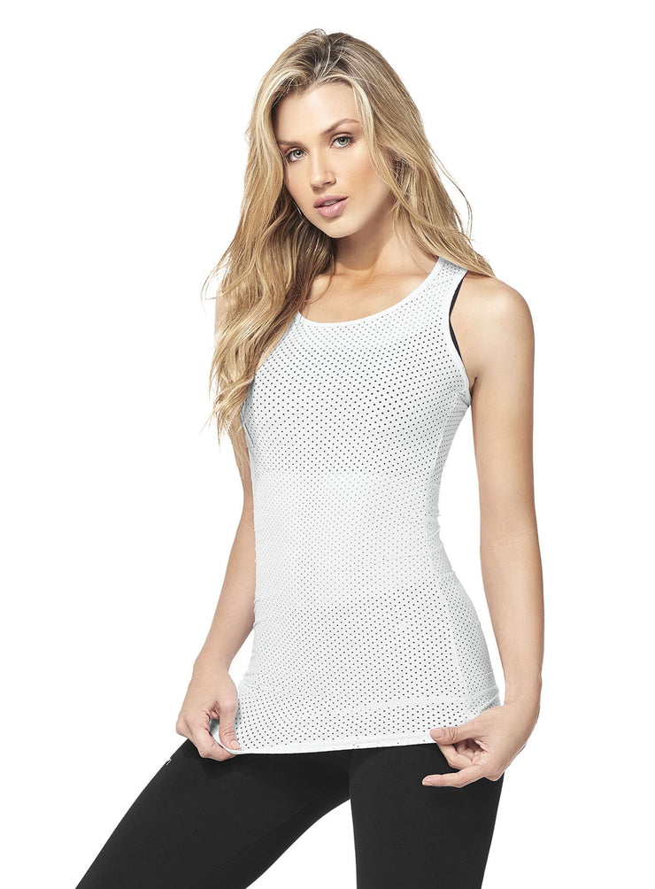 Babalu fashion mesh tank top, long length, racerback