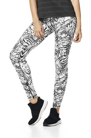 Zebra print supplex leggings, full length