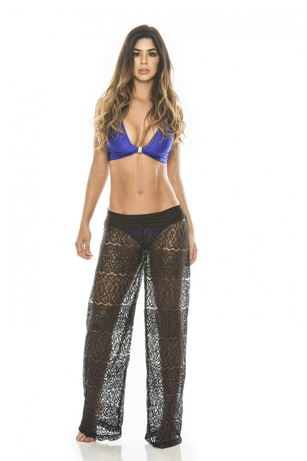 HOT Colombian beach pareo, black sheer pants
