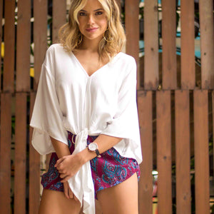 Bermuda Tie Top and Minca Shorts