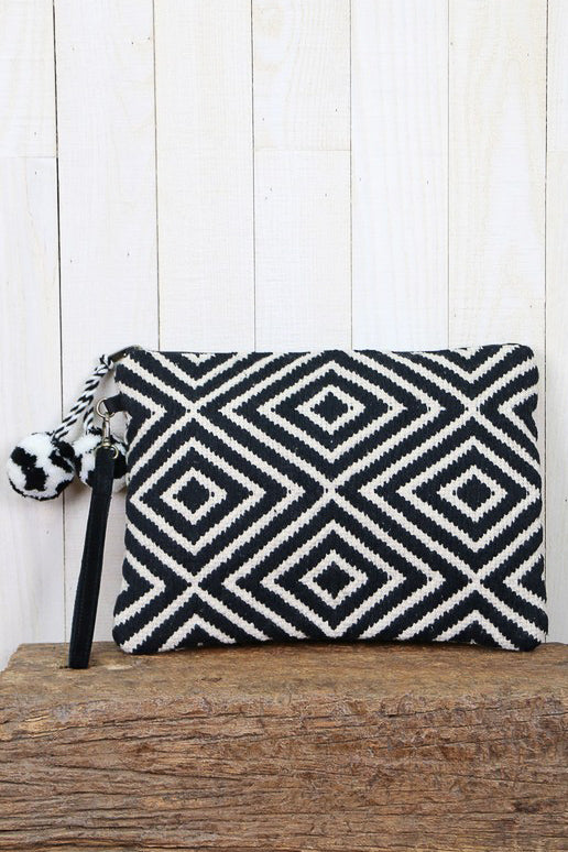 Diamondback Weaved Clutch