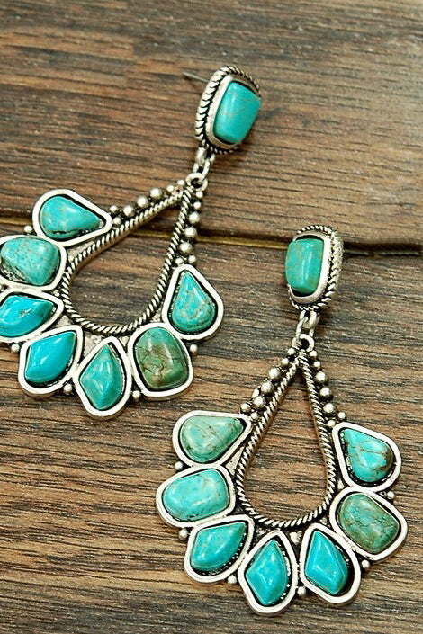 Turquoise Galveston Earrings
