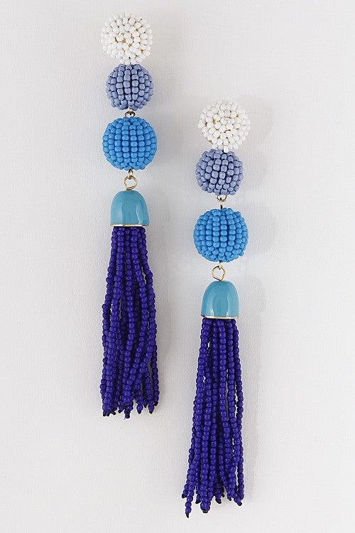 Blue Parrot Earrings