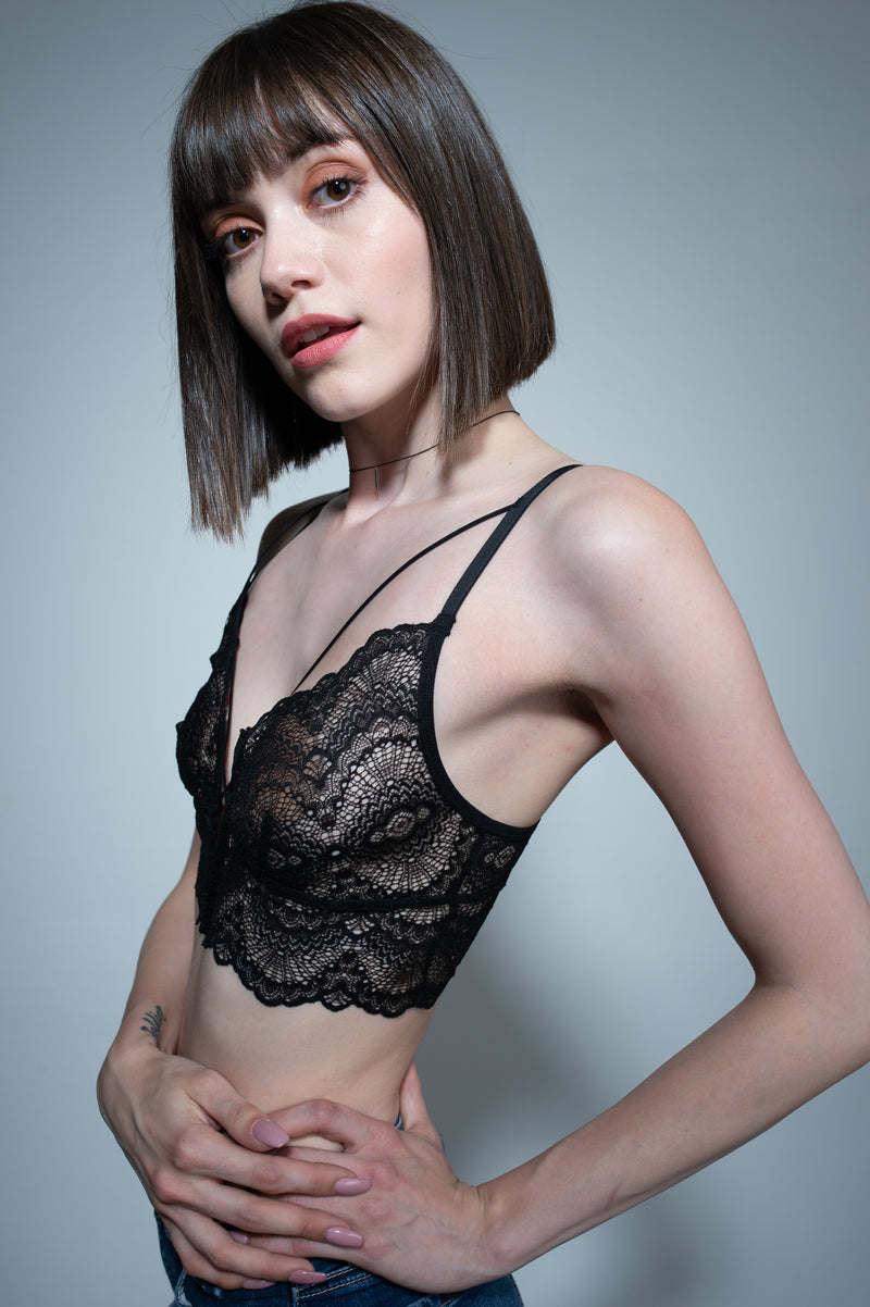 Paris Noir Lace Bralette