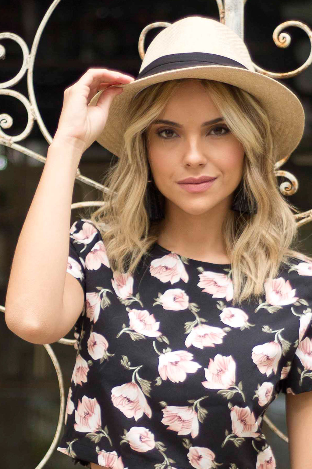 Black Ribbon Panama Hat