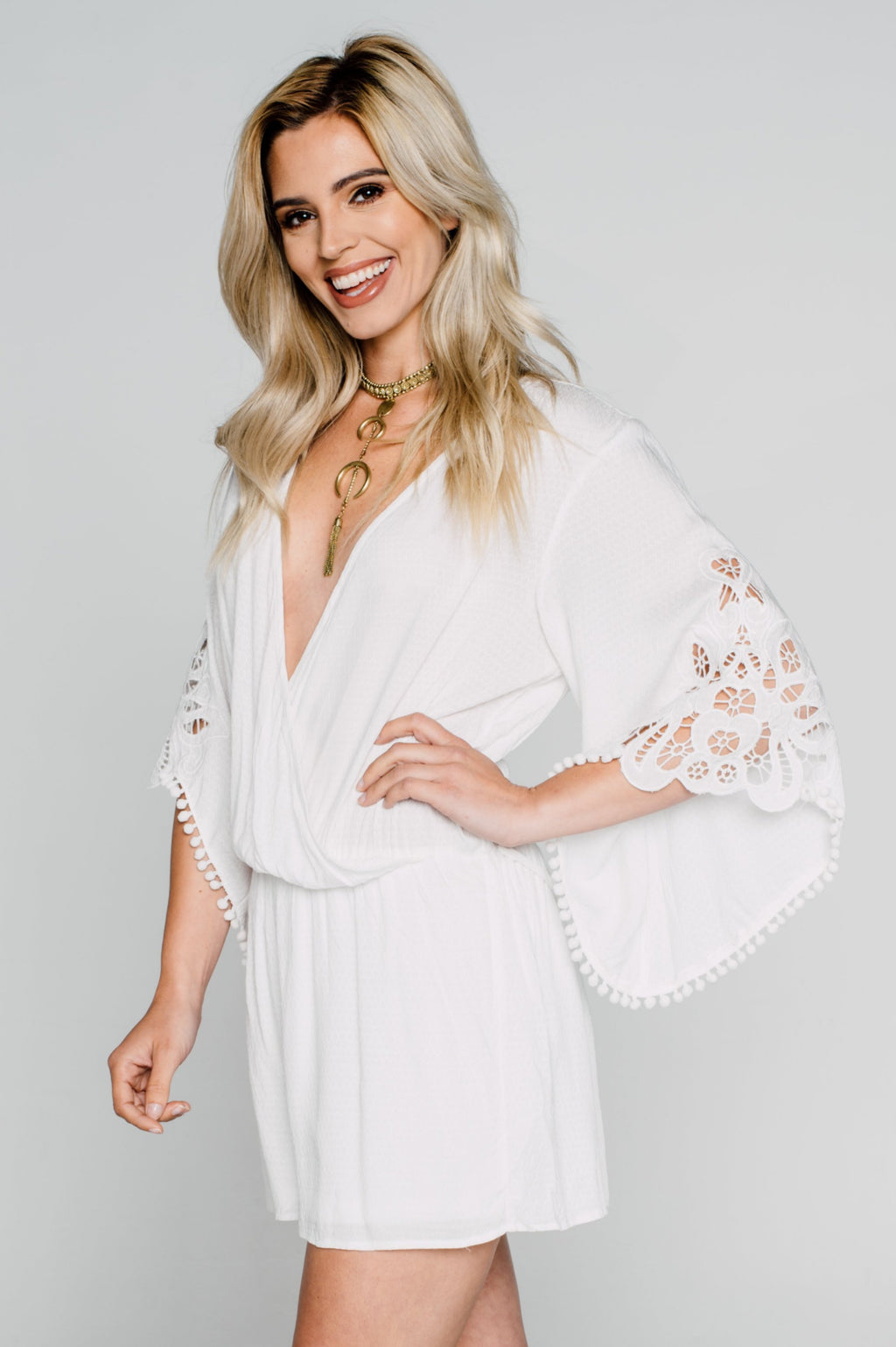 Mykonos Nights Romper