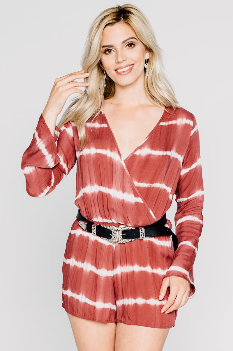 Cranberry Sunrise Romper