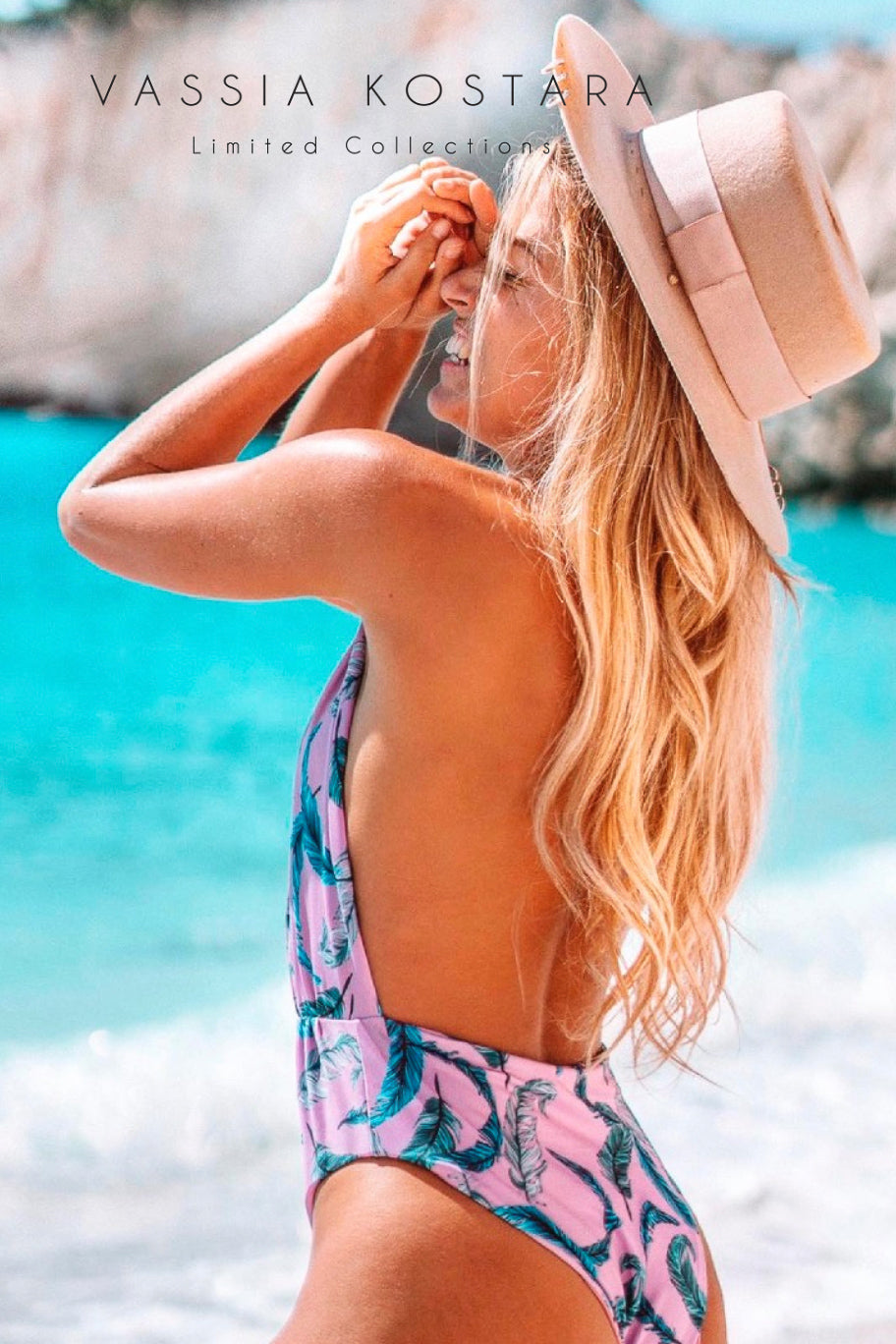 Vassia Kostara Bubble Gum One Piece Swim Suit