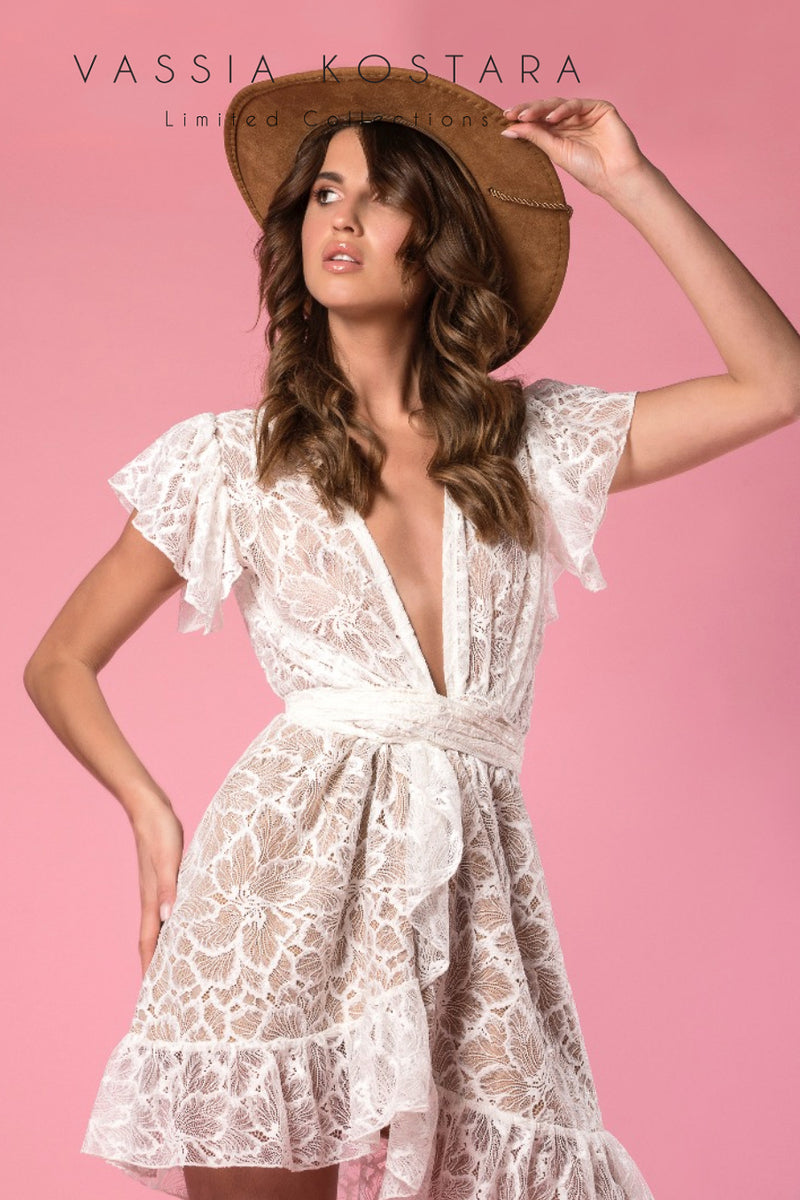 Vassia Kostara Lollypop Lace Dress