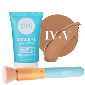 Liquid Mineral Foundation and Brush Bundle