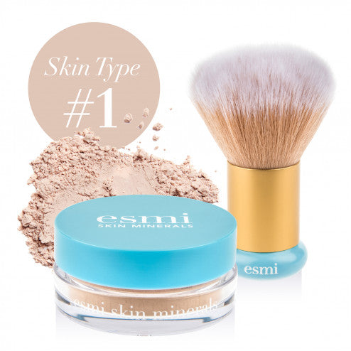 Mineral Powder Foundation and Kabuki Brush Bundle