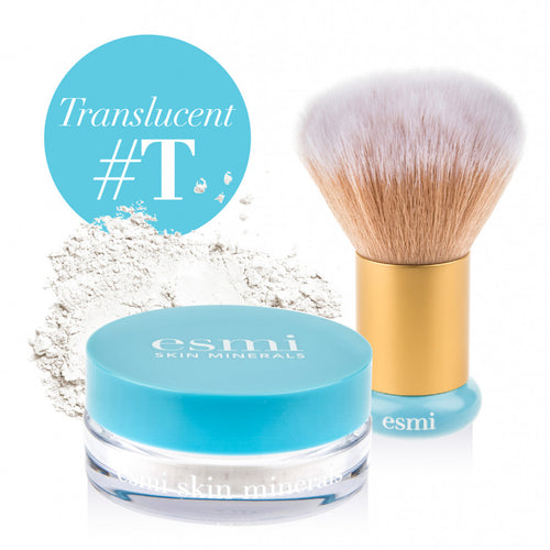 Translucent Mineral Powder and Kabuki Brush Bundle