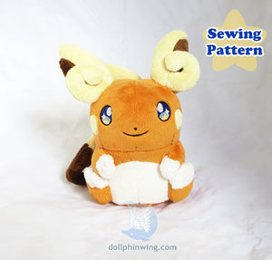 Alola Raichu Sewing Pattern Bundle