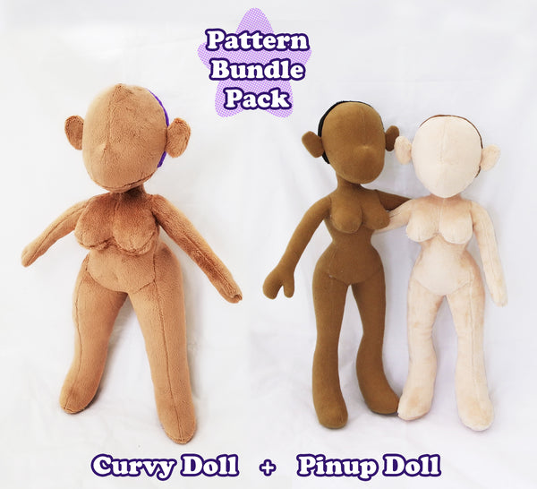 Curvy Pinup Doll Sewing Pattern Bundle