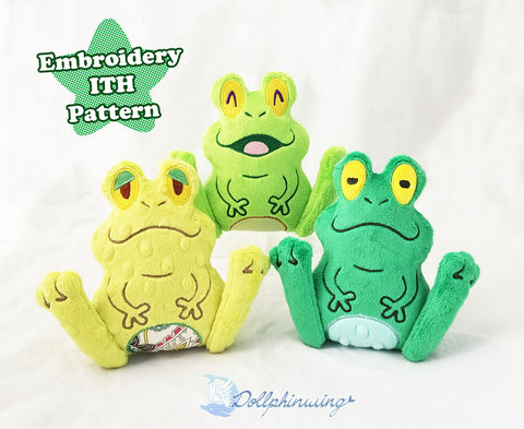 Frog Plush ITH Embroidery Pattern