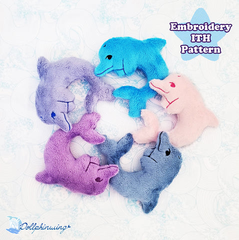 Dolphin ITH Embroidery Pattern