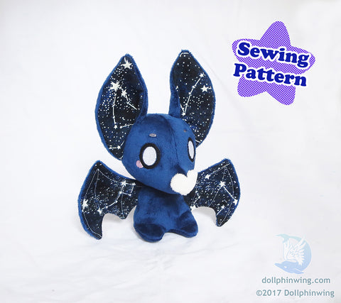 Bat Plushie Sewing Pattern