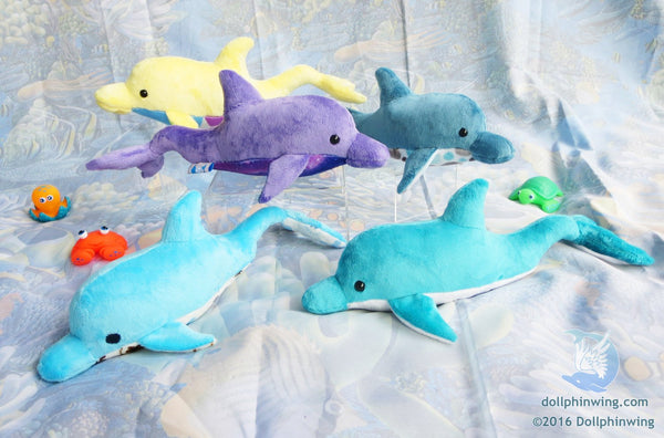 Dolphin Plush Sewing Pattern sewing pattern and tutorial dolphin, dolphin plush, dolphin plushie, ocean, PDF, plushie_pattern, sewing_pattern