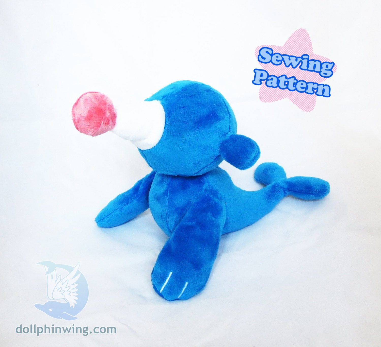 Circus Seal Plush Sewing Pattern sewing pattern and tutorial ocean, pdf_pattern, plush_sewing_pattern, pokemon, sewing_pattern