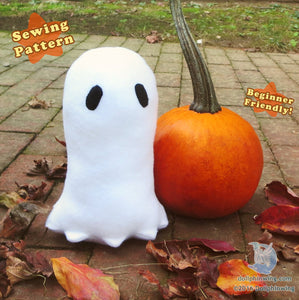 Halloween Ghost Plushie Sewing Pattern sewing pattern and tutorial napstablook, pdf_pattern, Plush_Sewing_Pattern, Sewing_Pattern, undertale