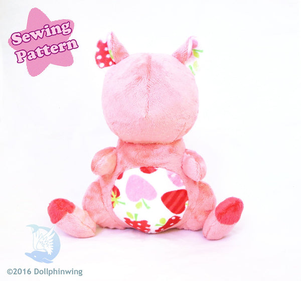 Hamster Plush Sewing Pattern sewing pattern and tutorial pdf_pattern, plush_pattern, sewing_pattern