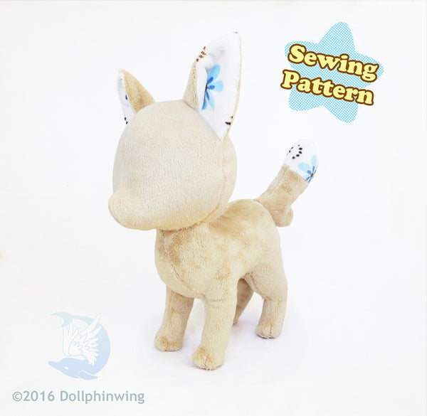 Fox Plush Sewing Pattern Digital PDF${tags}