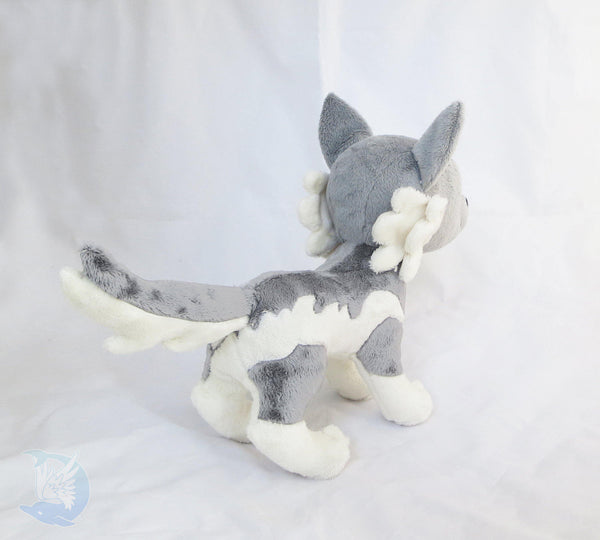 Wolf Plushie Sewing Pattern PDF sewing pattern and tutorial dog plush, pdf_pattern, plush_pattern, sewing_pattern