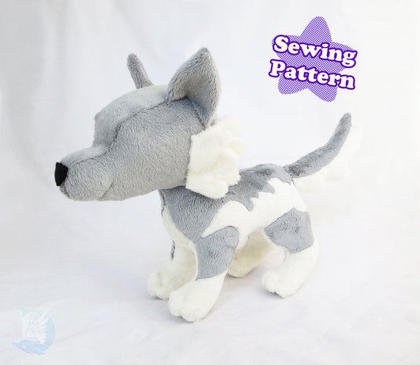 Fox and Wolf Plush Pattern Bundle PDF sewing pattern and tutorial pdf_pattern, plush_pattern, sewing_pattern