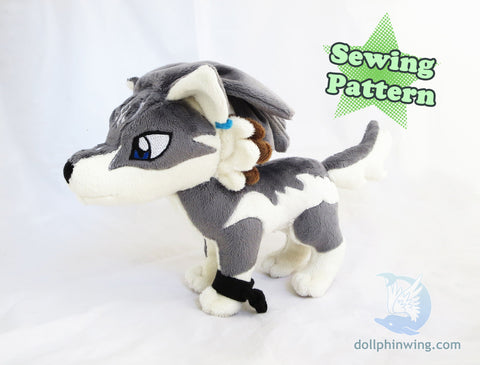 Wolf Link Plushie Sewing Pattern Add-On Embroidery${tags}