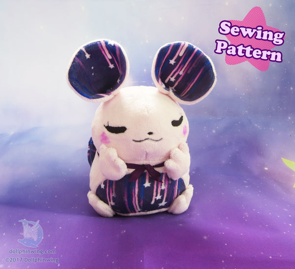 Chubby Mouse Plush Sewing Pattern PDF