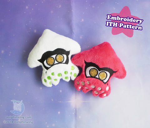 Lil Squid Friends ITH Embroidery Pattern sewing pattern and tutorial embroidery_pattern, ith_pattern, plushie_pattern, sewing_pattern, splatoon