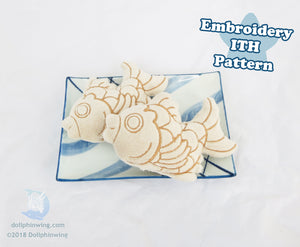 Taiyaki Plush Embroidery File ITH Pattern sewing pattern and tutorial embroidery_ith, embroidery_pattern, ith_pattern, plush_pattern, sewing_pattern