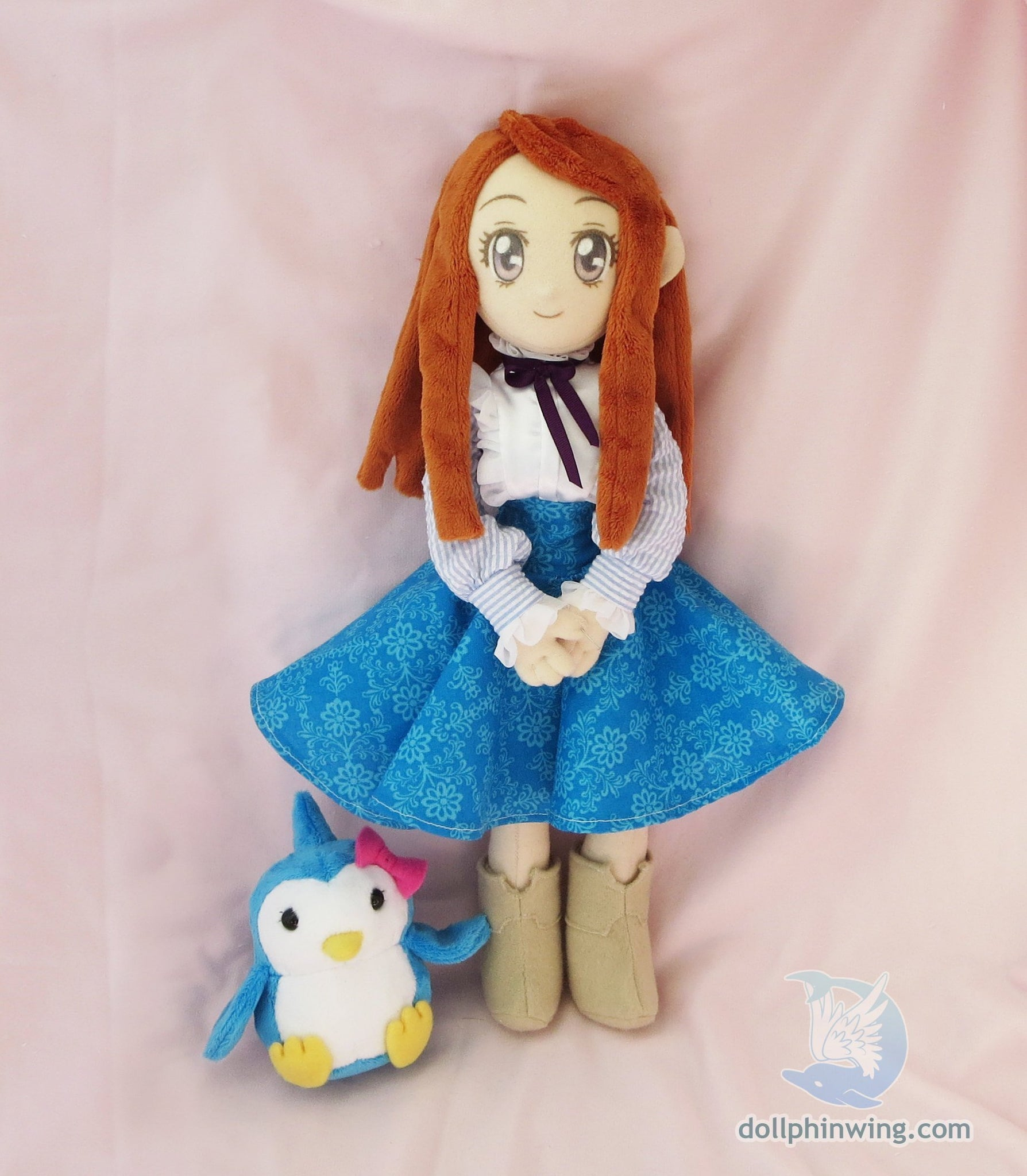 Penguindrum Himari Doll | Himari Takakura Plush Doll with Penguin