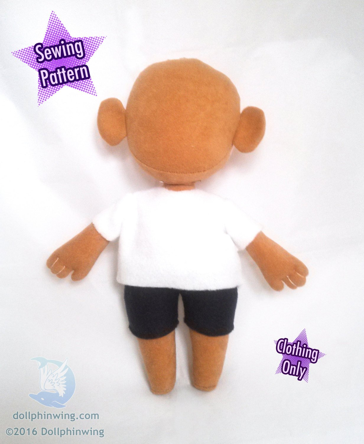 Chibi Shirt Shorts Pants Pack Sewing Pattern sewing pattern and tutorial doll_pattern, pdf_pattern, Sewing_Pattern