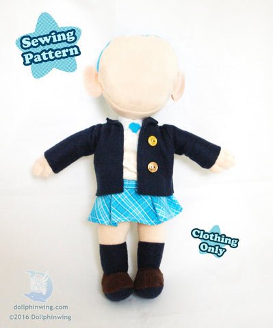 Chibi School Uniform Pack Sewing Pattern sewing pattern and tutorial doll_pattern, plushie_pattern, Sewing_Pattern
